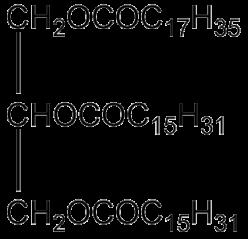 1-estearoil-2,3-dipalmitoil glicerina