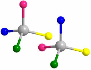 Tetraedros enantiómeros