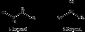 1-Propanol y 2-propanol